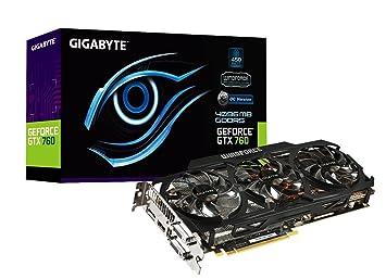 Gigabyte GV-N760OC-4GD - Tarjeta gráfica (GeForce GTX 760, 4 GB, GDDR5, 256 bit, 4096 x 2160 Pixeles, PCI 3.0): Amazon.es: Informática