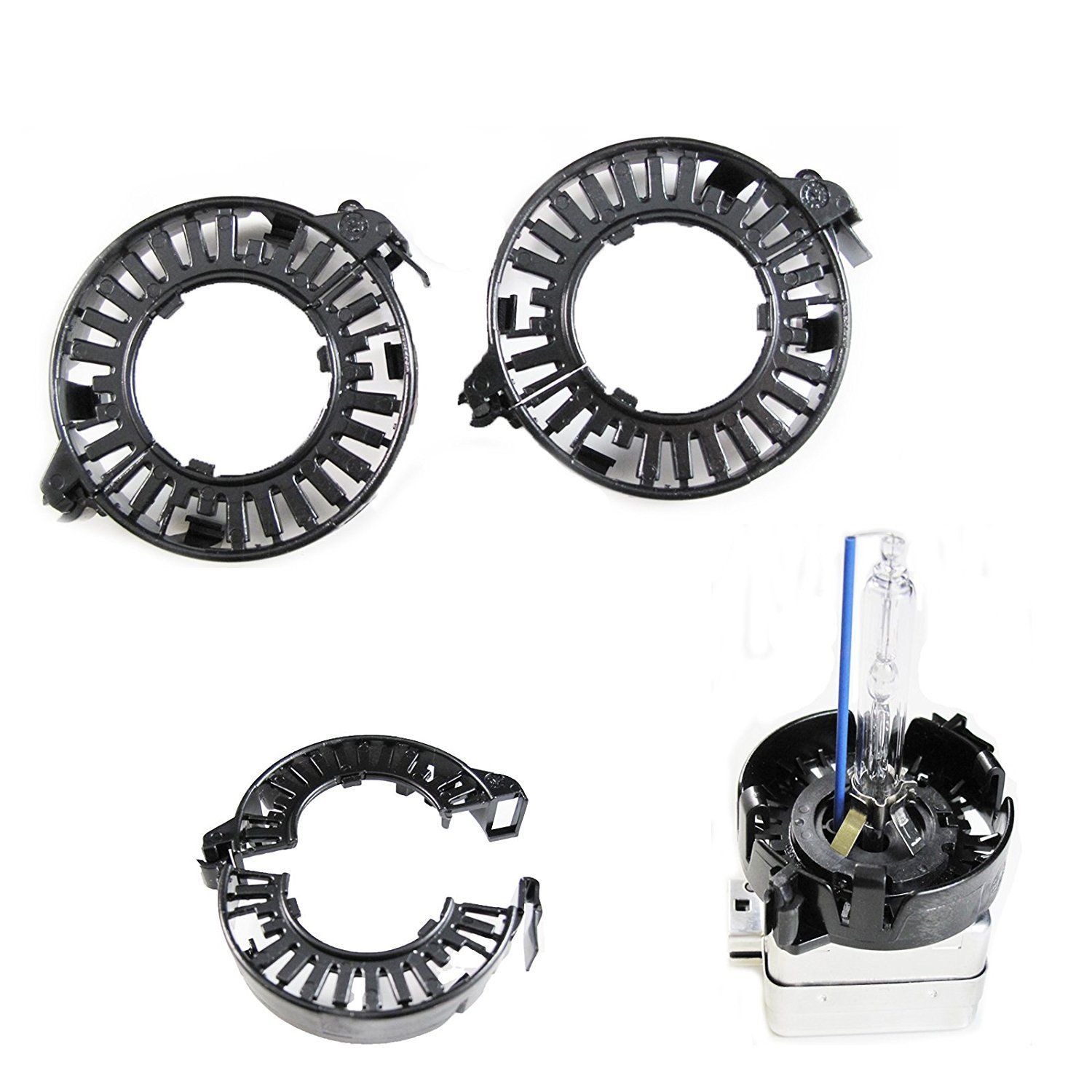Xotic Tech 1 pair D1S D3S HID Bulbs Holders Clip Rings Retainers for Audi BMW Mercedes Cadillac Lincoln Jaguar, etc Xotic Tech Direct