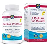 Nordic Naturals Omega Woman, Lemon - 120 Soft Gels - 500 mg Omega-3 + 800 mg Evening Primrose Oil - Healthy Skin, Hormonal Ba