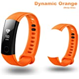 Iloft Replacement Silicone Sports Waterproof Band Wrist Strap For Huawei Honor Band 3 Smart Activity Tracker(Dynamic Orange)(Tracker not Included)(Strap Only)(Installation kit Included)