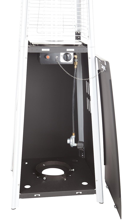 Fire Sense Resort Model 40,000 BTU Glass Tube Pyramid Style Flame Patio Heater in Rich-Mocha Finish