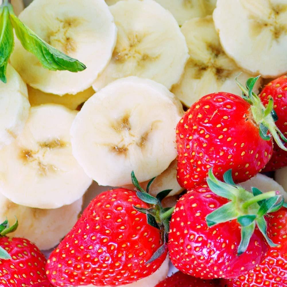 Prozis 100% Real Whey Protein Suplemento Puro en Polvo con un Perfil Completo de Aminoácidos y Rico en BCAA, Fresa-Plátano - 1000 g