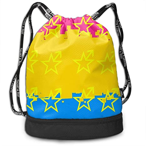 Amazon.com: Athletic Yoga Gym Sack Bag Pansexual Star Symbol ...