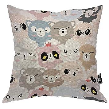 Amazon.com: Moslion - Funda de almohada decorativa para sofá ...