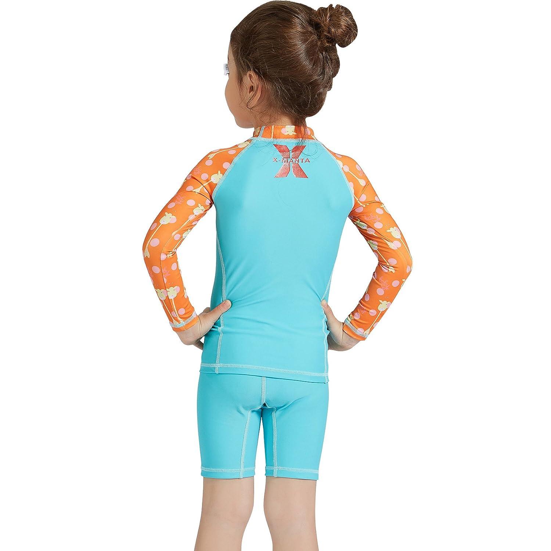 Amazon.com: Traje de baño de dos piezas para niñas con ...