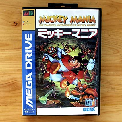 70ba17d18bd Amazon.com: The Crowd Tradensen Mickey Mania 16 Bit Md Card with Retail Box  for Sega Megadrive & Genesis Video Console System: Home & Kitchen