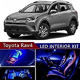 sky auto inc led premium blue light interior package kit for toyota rav4  2013-2017