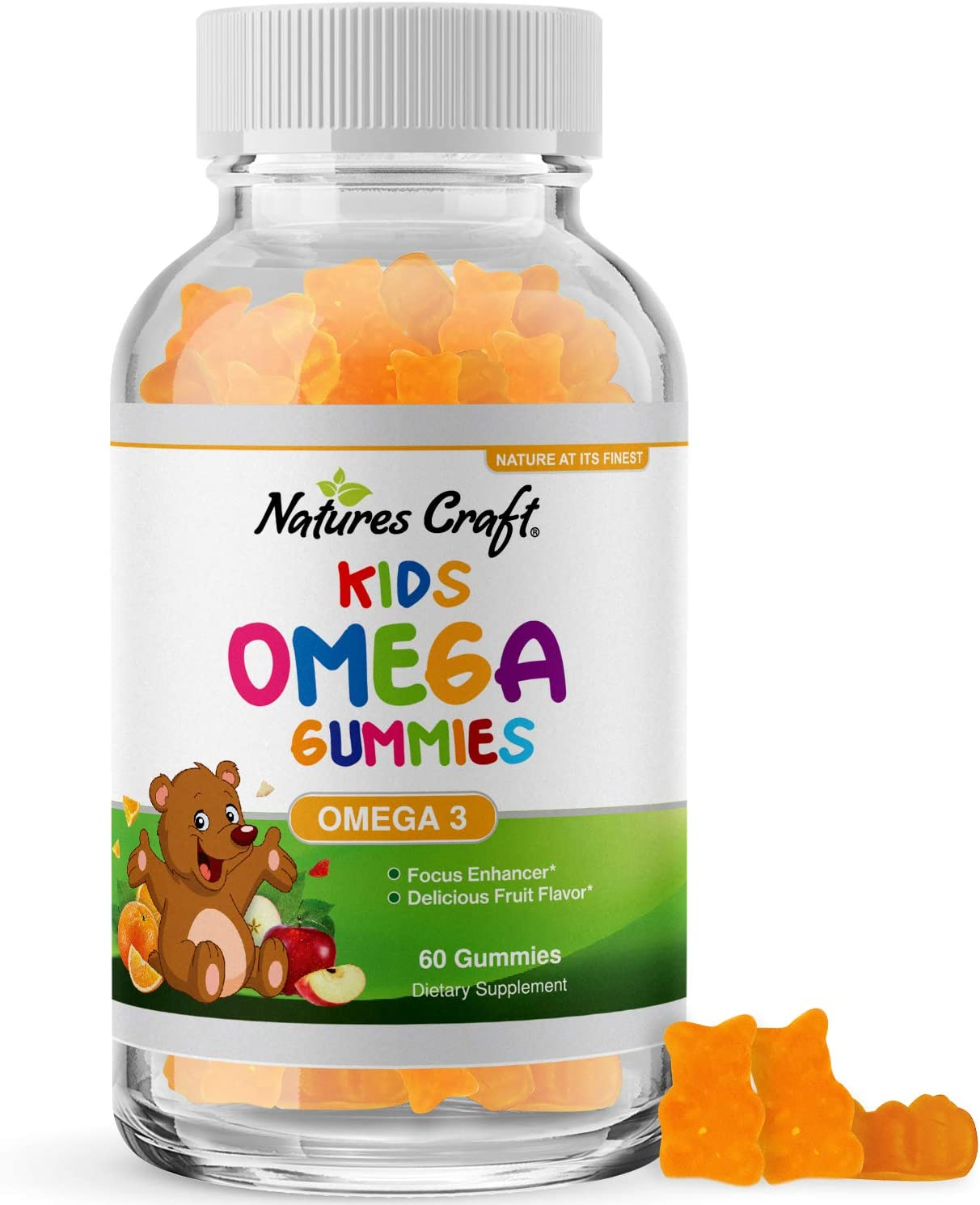DHA Omega 3 Gummies for Kids - Algae Omega 3 Fish Oil for Kids Gummy Vitamins with Omega 3 Fatty Acids - Kids Fish Oil Omega 3 6 9 EPA DHA Supplements for Brain Booster and Childrens Sleep Aid