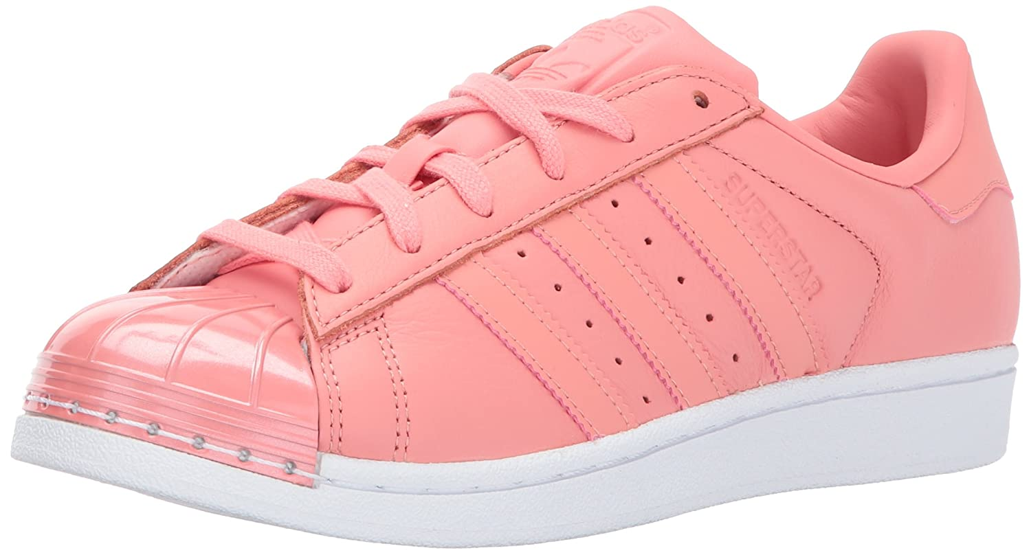 adidas Originals Women's Superstar Metal Toe W Skate Shoe B01NBKNWGF 9 B(M) US|Tactile Rose/Tactile Rose/White