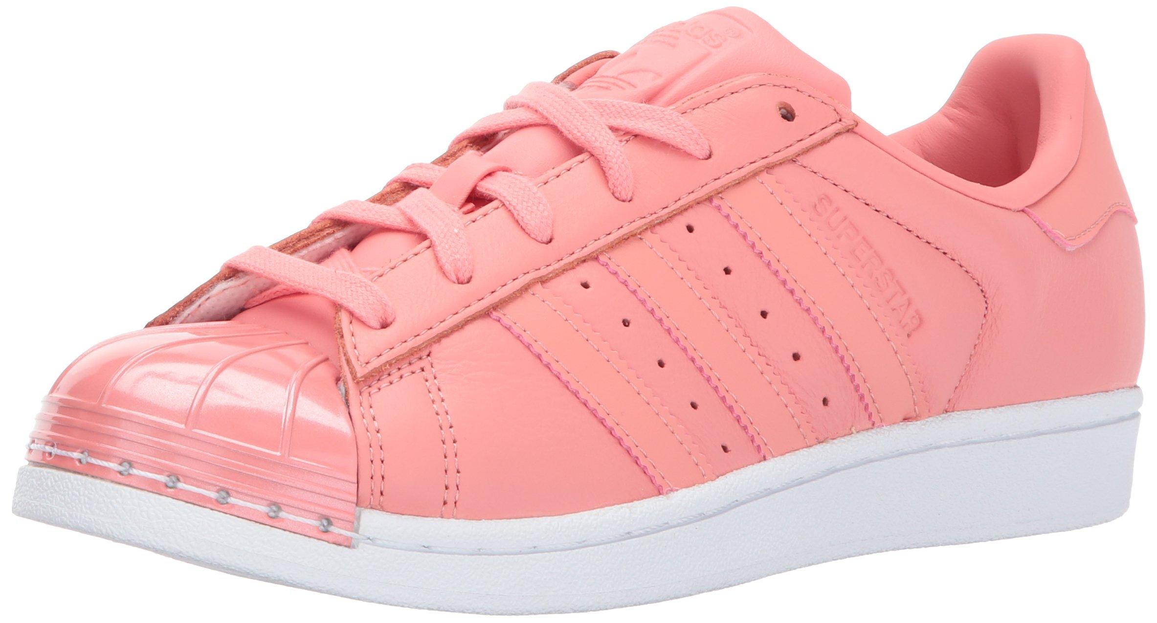 adidas Originals Women's Superstar Metal Toe W Skate Shoe, Tactile Rose/Tactile Rose/White, 9 Medium US