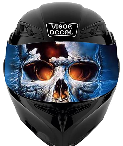 991f68cc Amazon.com: V35 Skull VISOR TINT DECAL Graphic Sticker Helmet Fits: Icon  Shoei Bell HJC Oneal Scorpion AGV: Automotive
