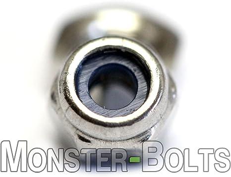 2.5mm x 0.45mm Nylon Insert Hex Lock Nut DIN 985 Stainless Steel 18-8 Qty 10
