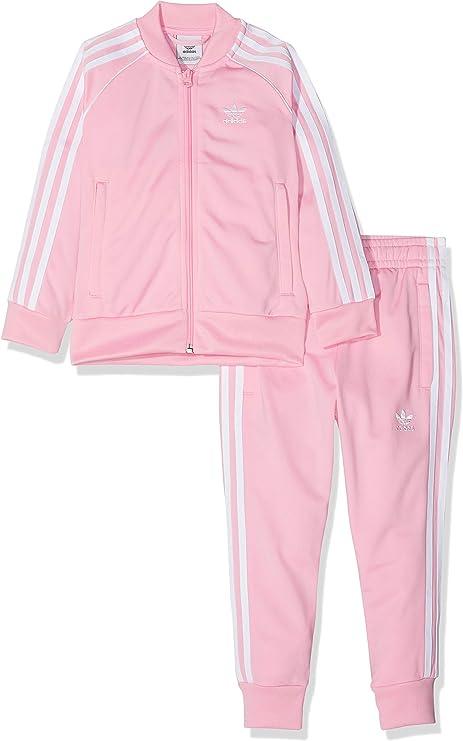 Adidas Trefoil SST Survêtement Fille, Light Pink, 104(3-4 Ans