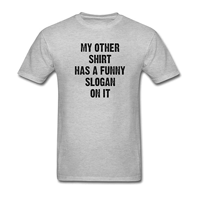 44683667 AIKYAN Men's T-Shirts My Other Shirt has a Funny Slogan on it at Amazon  Men's Clothing store: