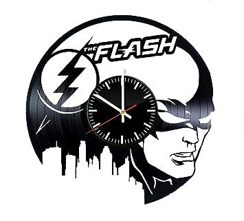 Amazon Com The Flash Dc Comics Vinyl Clock Wall Art Room Decor