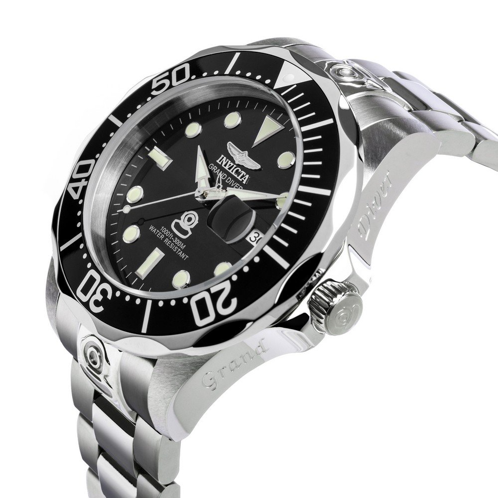 Invicta Men's 3044 Stainless Steel Grand Diver Automatic Watch, Silver/Black by Invicta (Image #3)