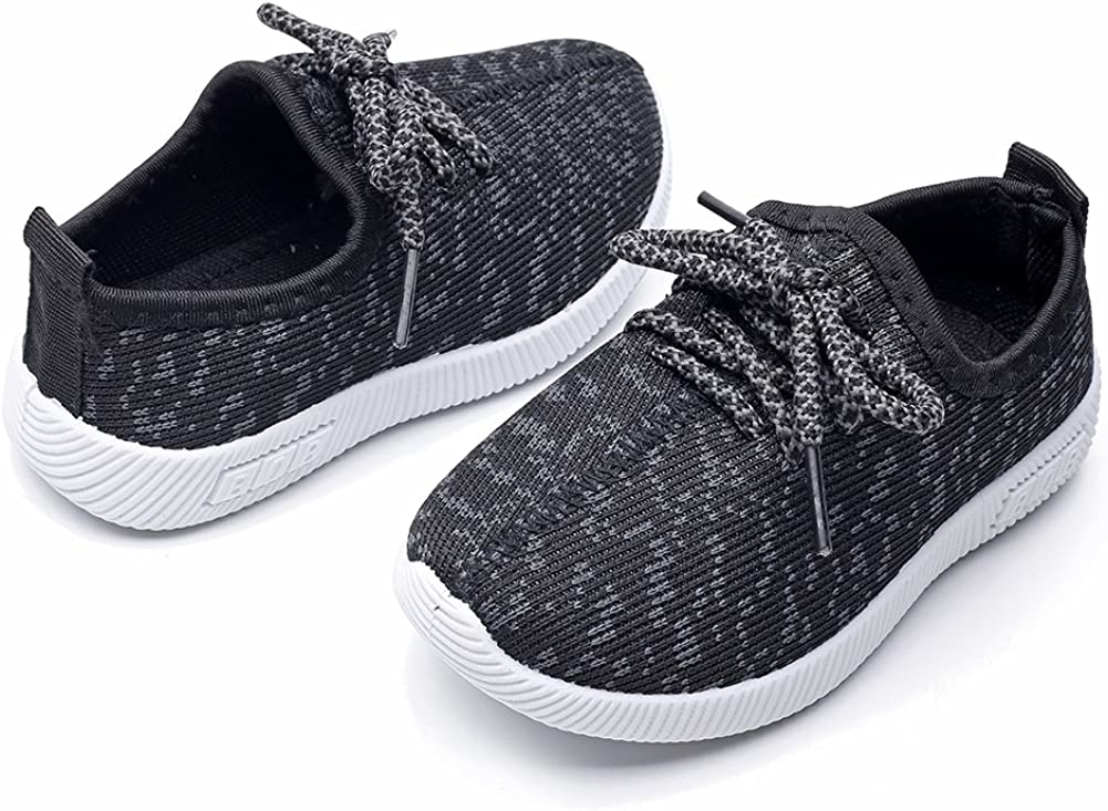 Toddler//Little Kid Kids Lightweight Lace Up Sneakers Running Shoes Soft Sole