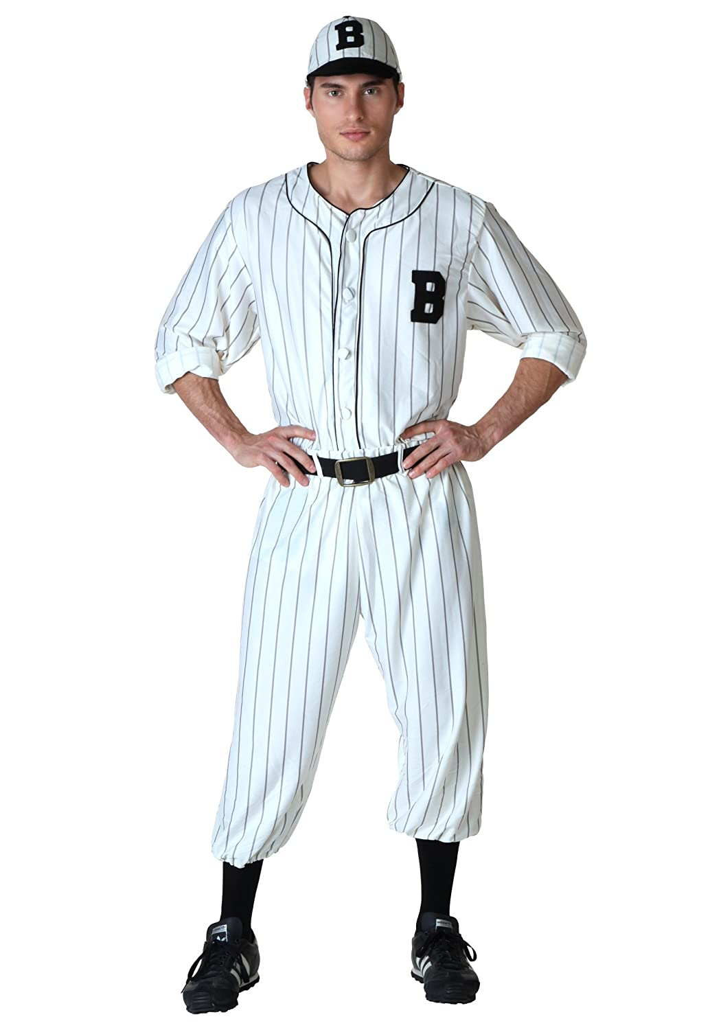 1930s Men's Costumes: Gangster, Clyde Barrow, Mummy, Dracula, Frankenstein Adult Vintage Baseball Costume $49.99 AT vintagedancer.com