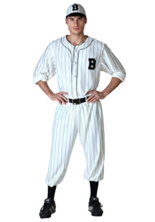 Amazon.com: FunCostumes Adult Vintage White Baseball Costume: Clothing