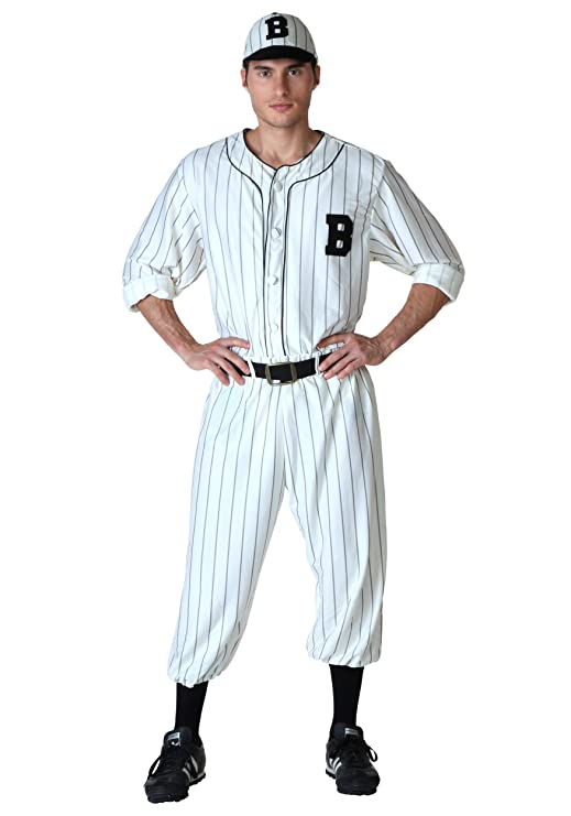 1920s Men's Costumes: Gatsby, Gangster, Peaky Blinders, Mobster, Mafia Fun Costumes mens Adult Vintage Baseball Costume $49.99 AT vintagedancer.com