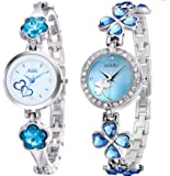 Addic Cool Analogue Dial White Women's Watches -Combo of 2