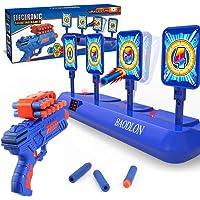BAODLON Digital Shooting Targets with Foam Dart Toy Gun, Electronic Scoring Auto Reset 4 Targets Toys, Fun Toys for Age…