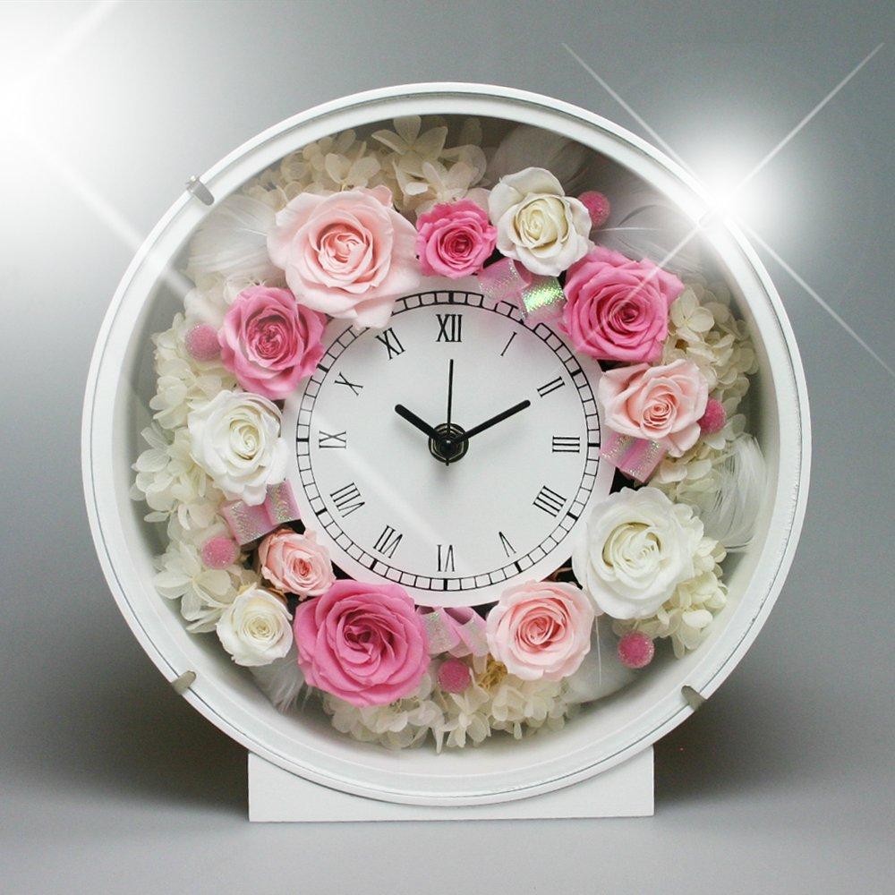 PRECIOUS FLOWER プリザーブドフラワー お花の時計 PSYH-01201 ピンク B004VSMBUY ピンク ピンク