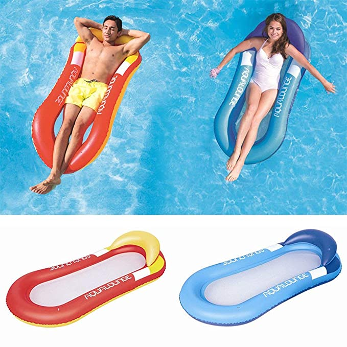 Amazon.com: haihai Pool Hammock Floating Lounge Chair Airbed Sofa Hammock Lounge Foldable Pool Floating Bed Dual-Use Inflatables for Adults and Kids Water ...
