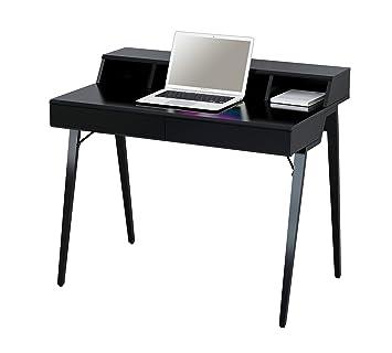 Sixbros Computerschreibtisch Schreibtisch Hochglanz Schwarz Ct