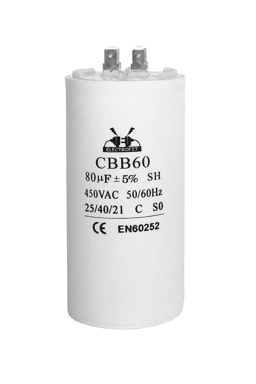 Motore condensatore 450 V AC 80 uF CBB60 Electrofit