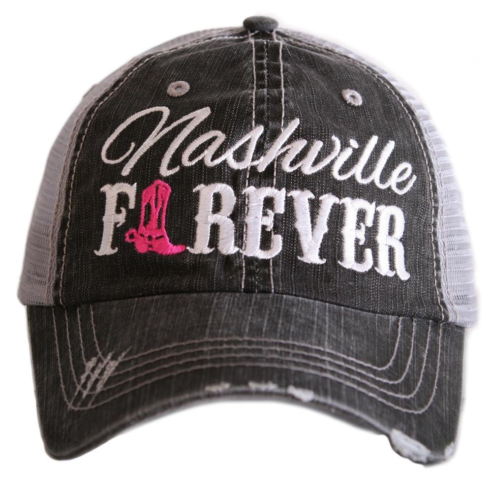 Katydid Nashville Forever Boot Baseball Hats Caps by