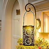 Solar Lanterns Outdoor Hanging Lights - Solar Powered Outdoor Lights - Metal Waterproof Garden Ornaments Outdoor…