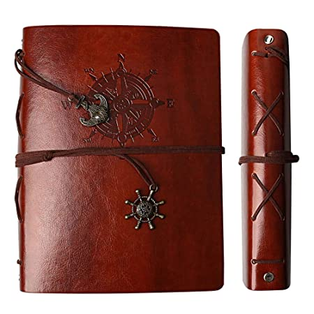 Nuosen Amoom Vintage Leather Photo Album Scrapbook Refillable Black