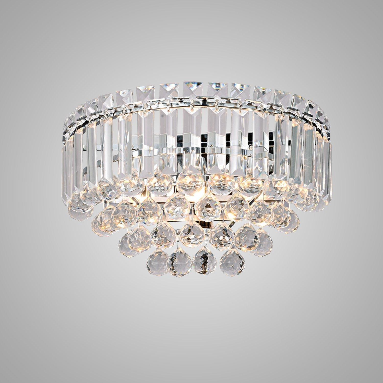 Elegantes Modern Crystal Wandleuchte, Einfache 3-Kopf Kristall Wandleuchte für Wohnzimmer, Schlafzimmer, Study Room, Küche, Korridor, Balkon, 3  G9  40W