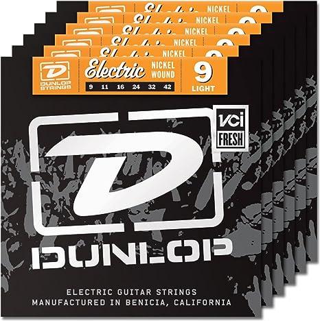 6 juegos de Dunlop den0942 cuerdas para guitarra eléctrica ...