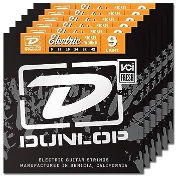 6 juegos de Dunlop den0942 cuerdas para guitarra eléctrica (calibre 9 - 42): Amazon.es: Instrumentos musicales