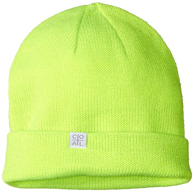d34d8ab358c52e Coal Men's The FLT Fine Knit Beanie Hat, neon Green, Slouchy/Low Profile:  Amazon.ca: Clothing & Accessories