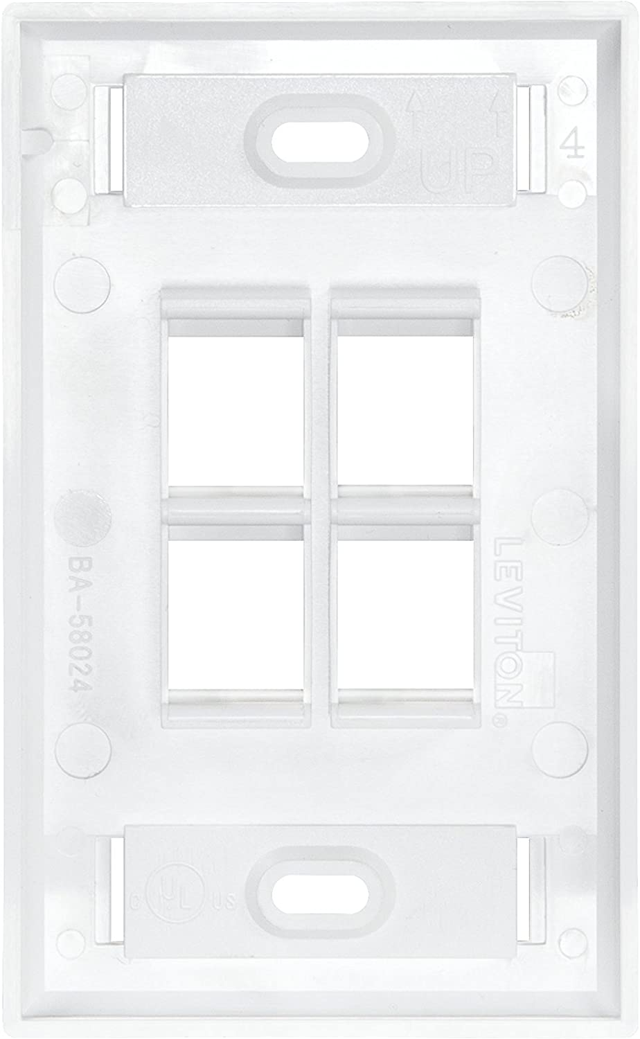 Leviton 41080-4W  Wall Plate 5 pack  Lot of 8