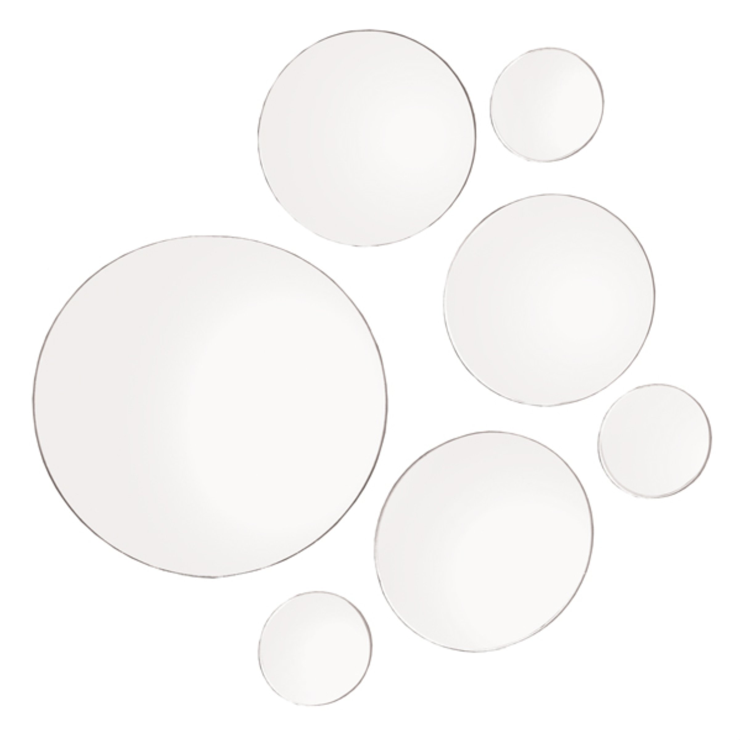 round shape glass 7 mirror set wall mount hanging art deco elements round wall mount mirror set of 7 assorted sizes