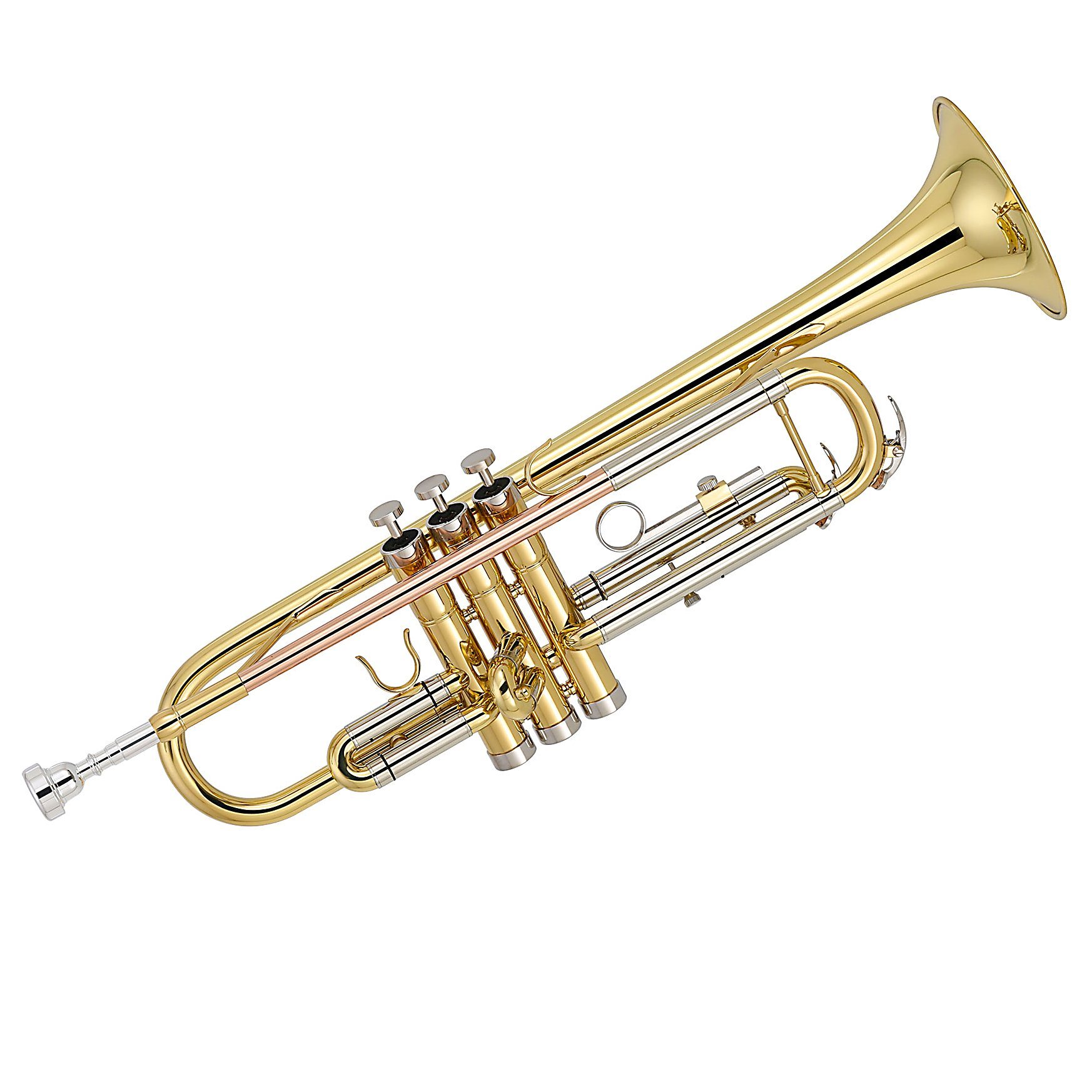 Kaizer Trumpet B Flat Bb 3000 C Series Gold Lacquer Includes Case Mouthpiece and Accessories TRP-3000LQRC