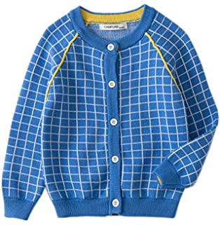 Wnitefg 2018 Toddler Baby Boys Knit Cotton Striped Cardigan Sweater Jacket Autumn Clothes