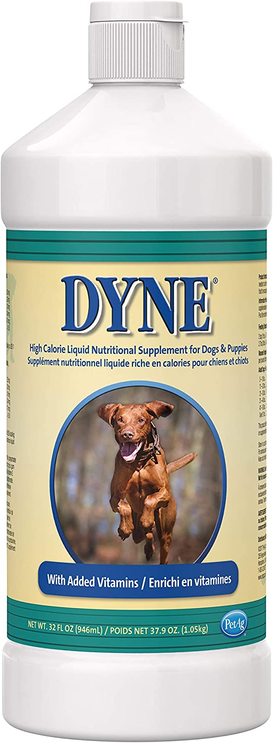 Dyne High Calorie/Weight Gainer Liquid for Dogs, 32 fl oz (2 Pack)