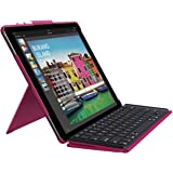 Logitech iPad Pro 12.9 inch Keyboard Case | Slim Combo: Detachable, Backlit, Wireless Keyboard with Smart Connector (Berry)