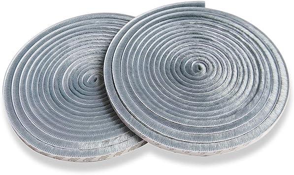 Yardsky - Tira de cepillo gris para desmontar el tiempo de pelo para puerta de garaje, ventanas y puertas correderas (1,9 x 1,9 x 91,4 cm), color gris: Amazon.es: Bricolaje y herramientas