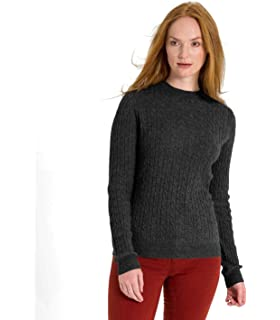 1af776289b Woolovers Ladies Cashmere and Merino Crew Neck Knitted Sweater ...