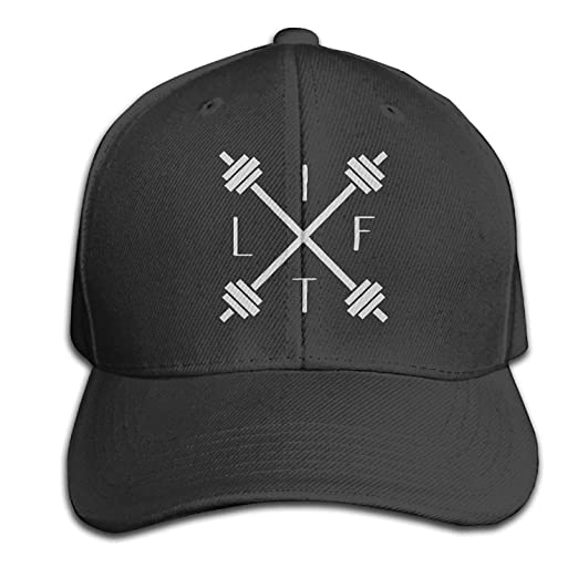Image Unavailable. Image not available for. Color  Fitted Weight Lifting  Motivational Lifter Peaked Black Baseball Caps ... 65c7261fc1c