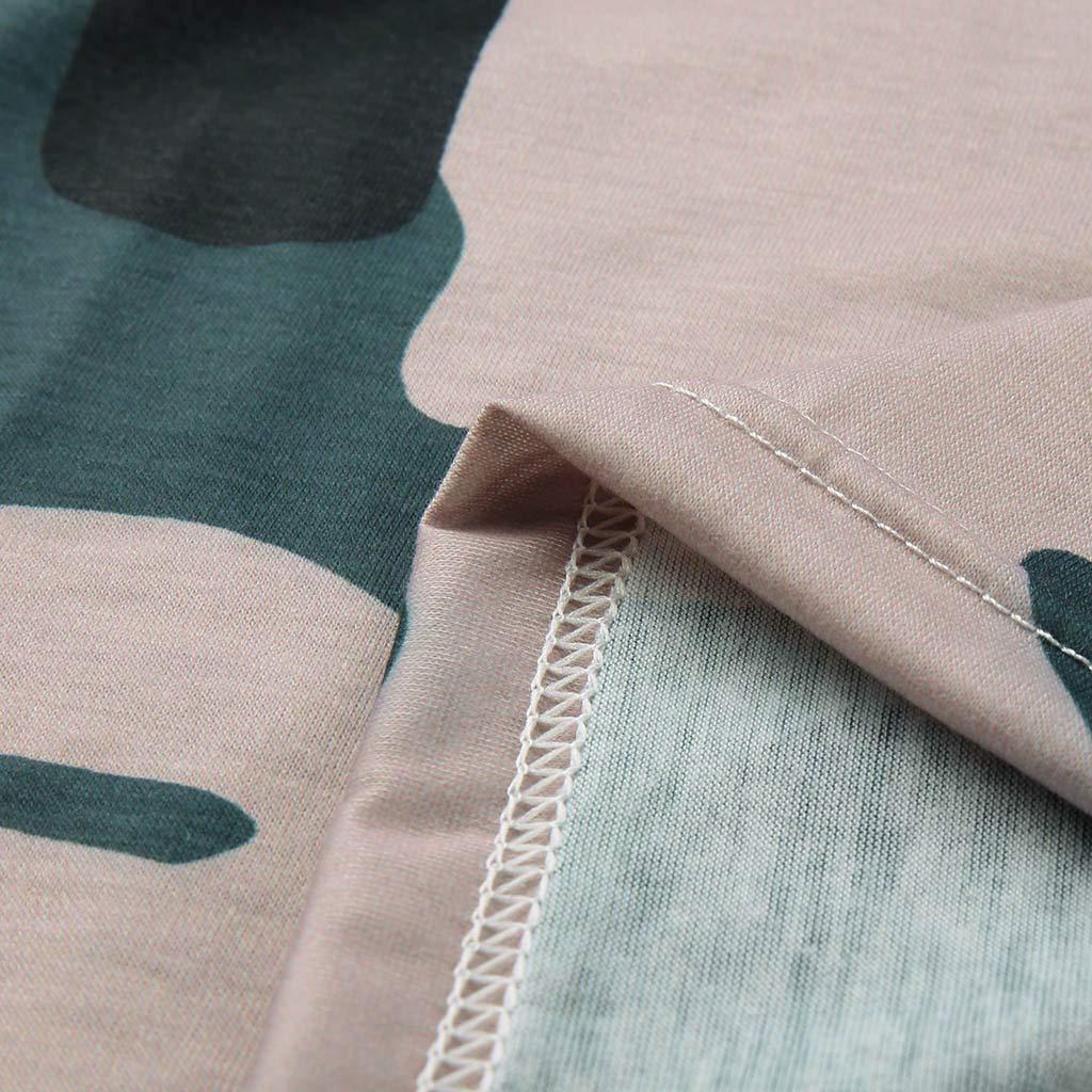 beautyjourneylove Giacche Cappottino Maglietta da Donna a Maniche Lunghe con Collo Rotondo Mimetico da Donna Camicie con Stampa a Maniche Lunghe Casual Camicette morbide