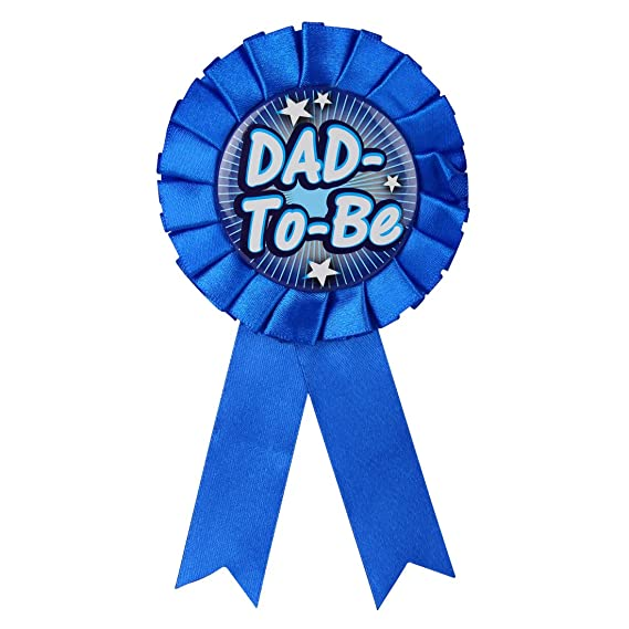18e859c38d7 Baby shower baby shower party props badge dad to be navy blue jpg 569x569  Dad to