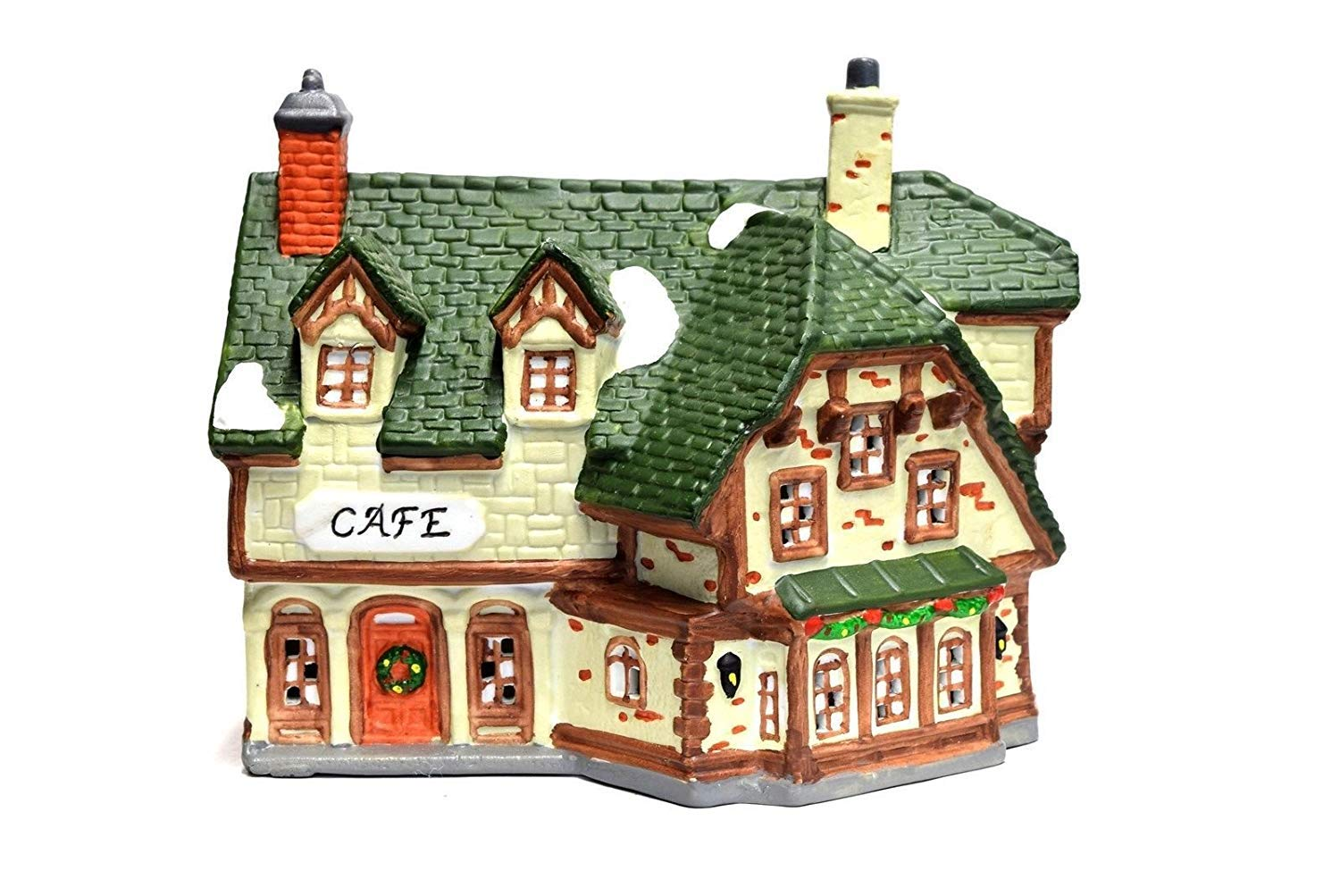 Dickens Collectibles 1990 Towne Series Porcelain Lighted House - Cafe 266-6716