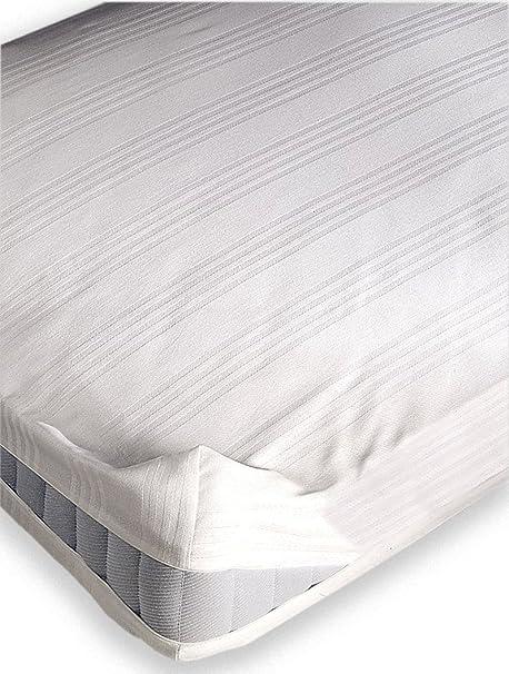 Pikolin Home Coprimaterasso in tessuto fasciato 100/% cotone letto singolo 80 x 190//200 cm Tutte le misure